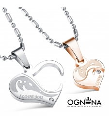 Сет колиета Heart Love Gold