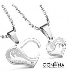 Сет колиета Heart Love Silver