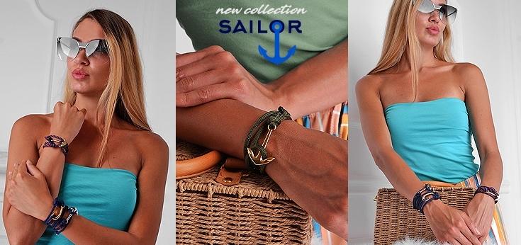 Гривни с котва Sailor